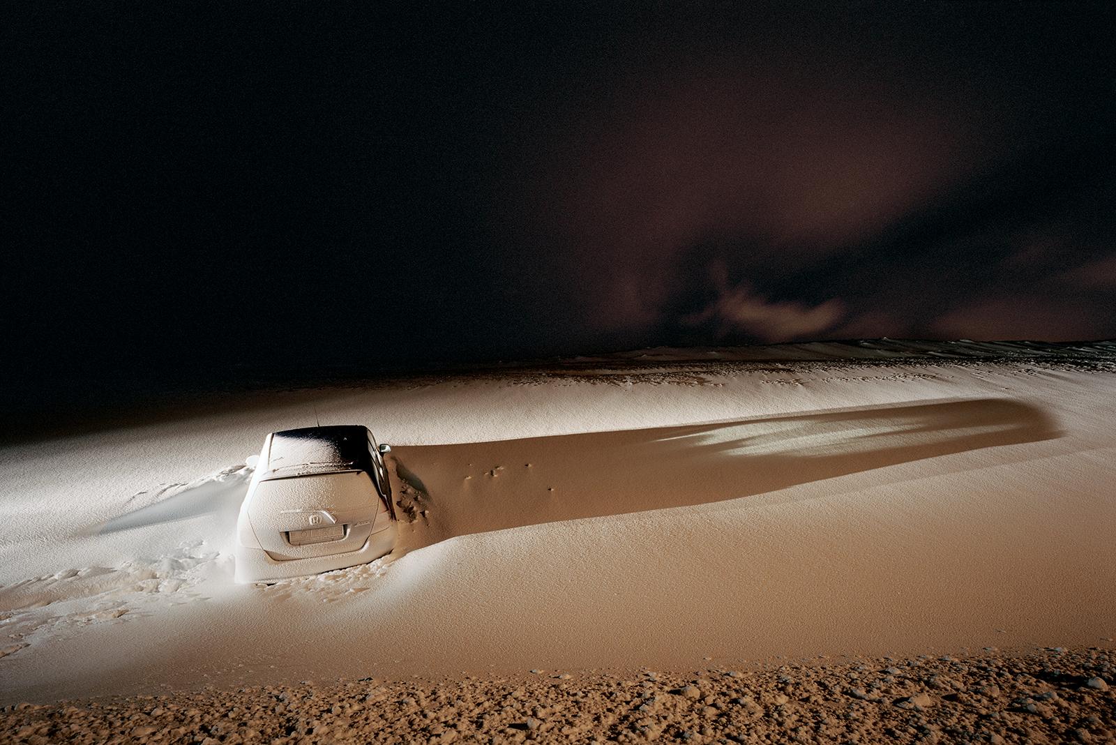 Eingeschneites Auto (snow drift)