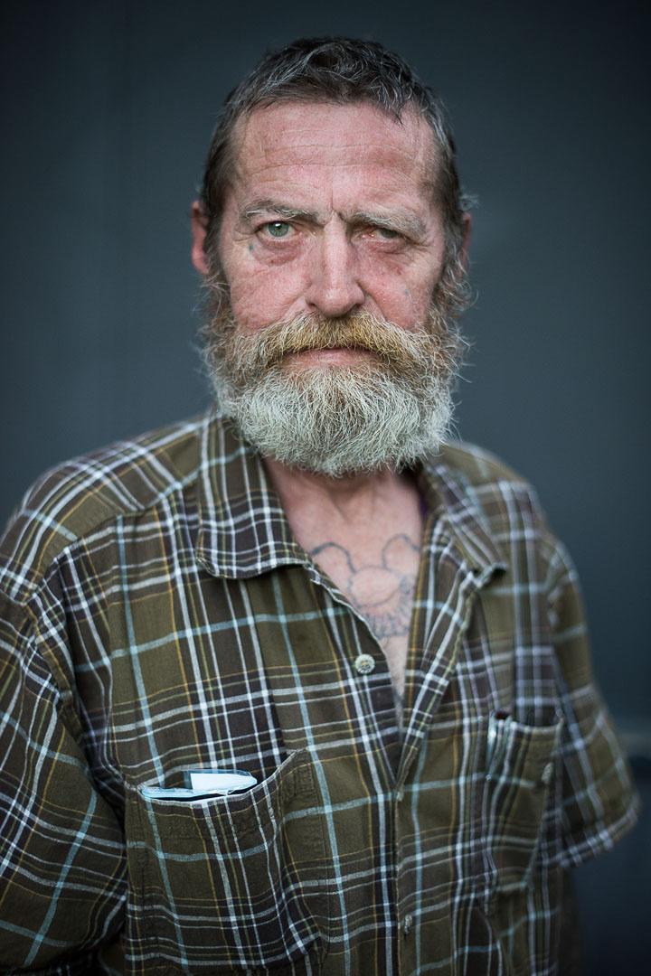 Filzlaus, Obdachloser