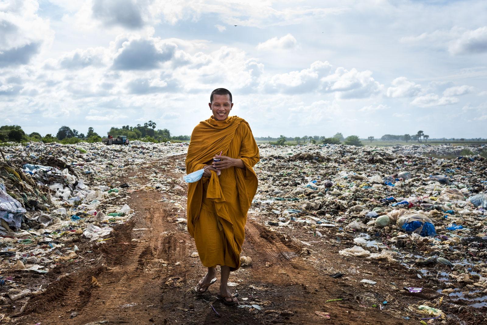 Mönch, ehemaliger Müllsammler