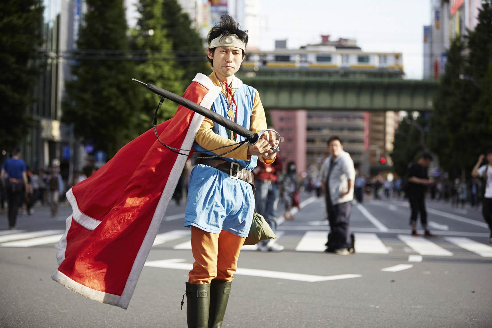 Mann in Fantasie Kostüm