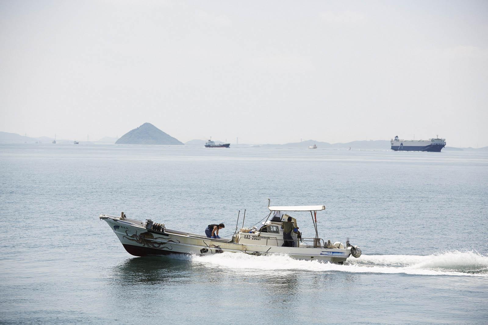 Oktopus Fischerboot