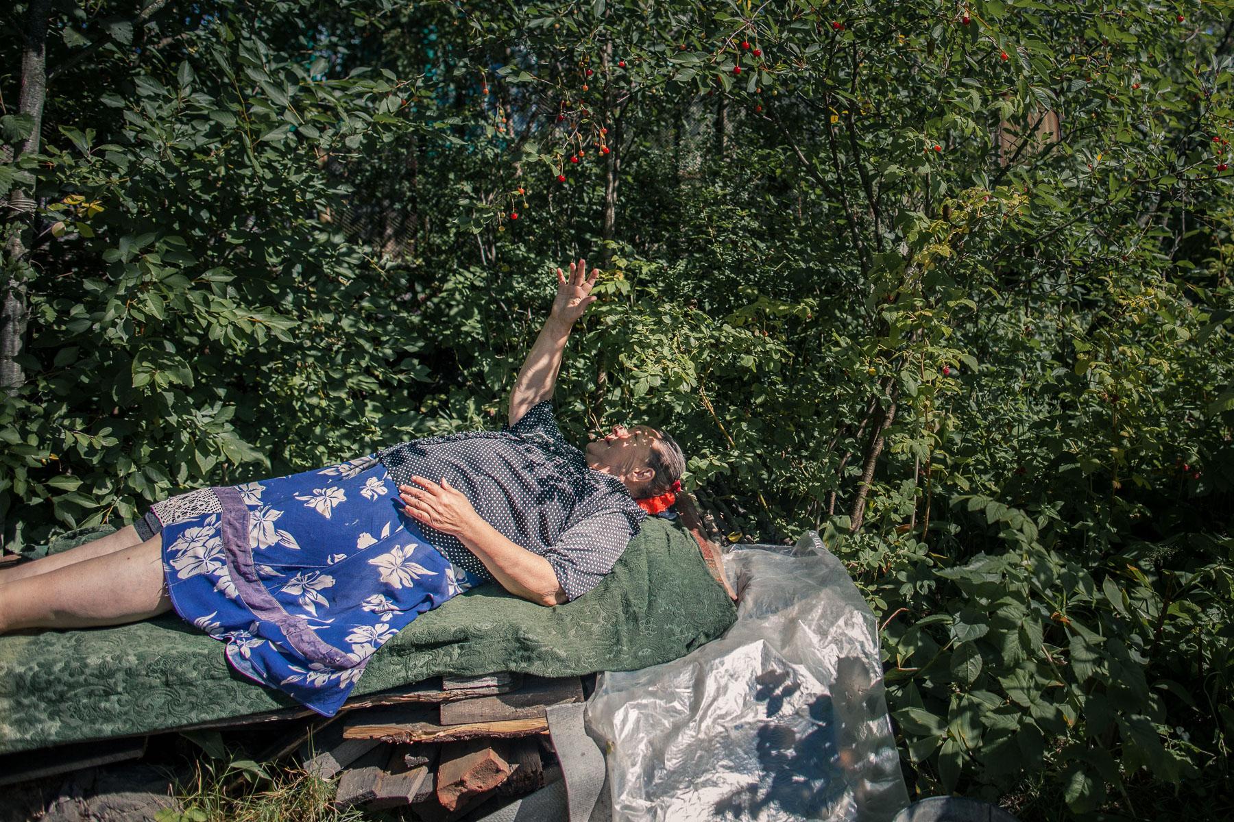 Anna Baranova in her Garden