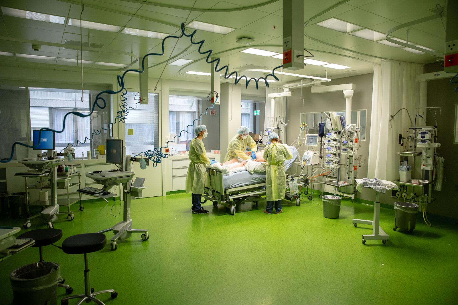 Bauchlagerung eines Patienten