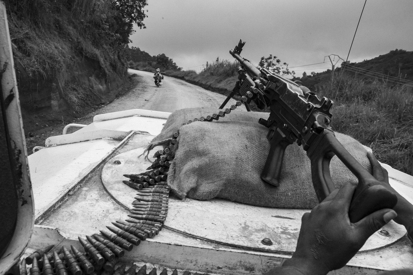 Patrouillie der UN-Truppen