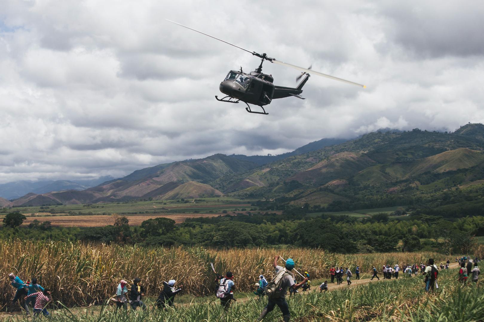 Landbesetzung in der Region Cauca