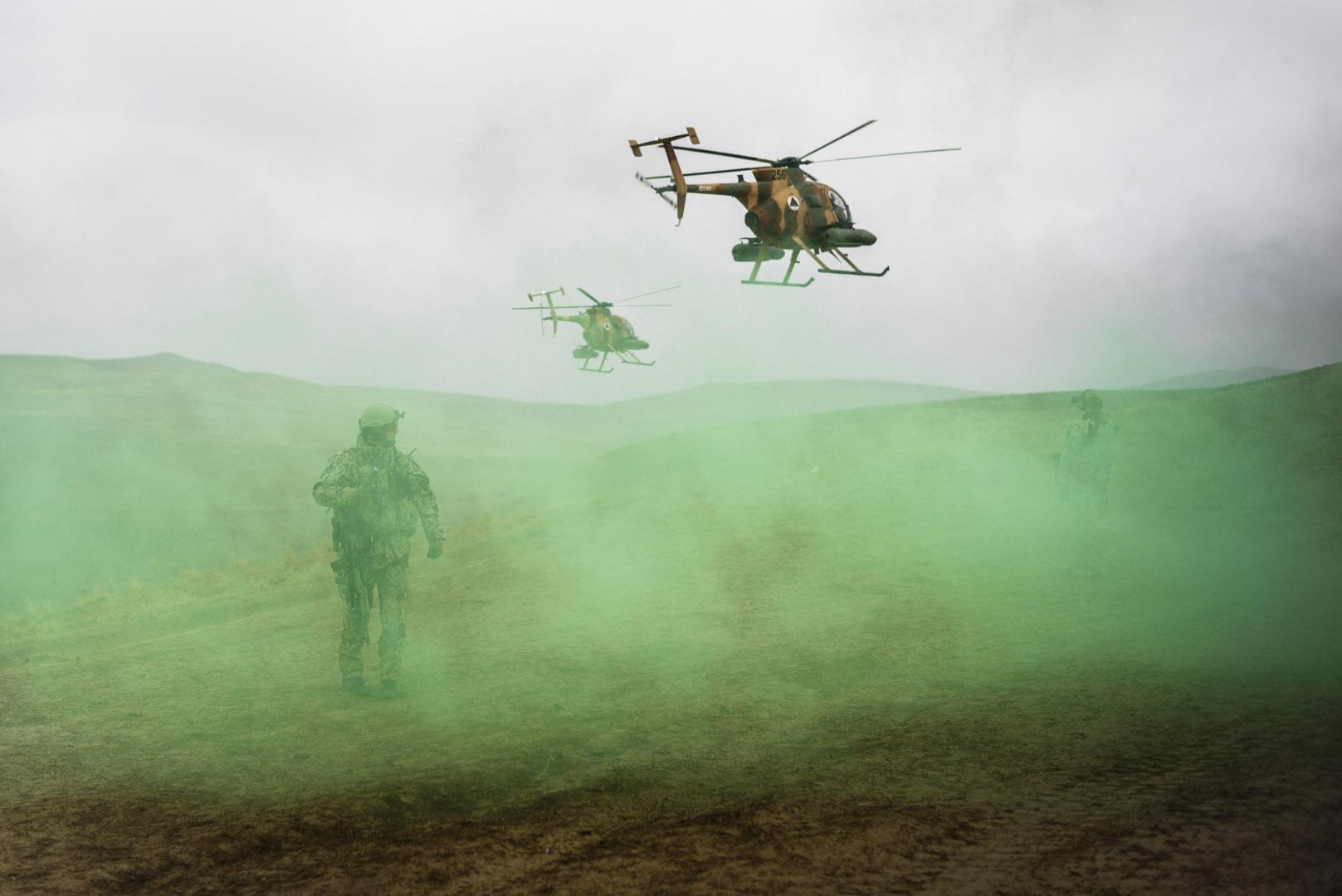 Übung der Afghanischen Luftwaffe