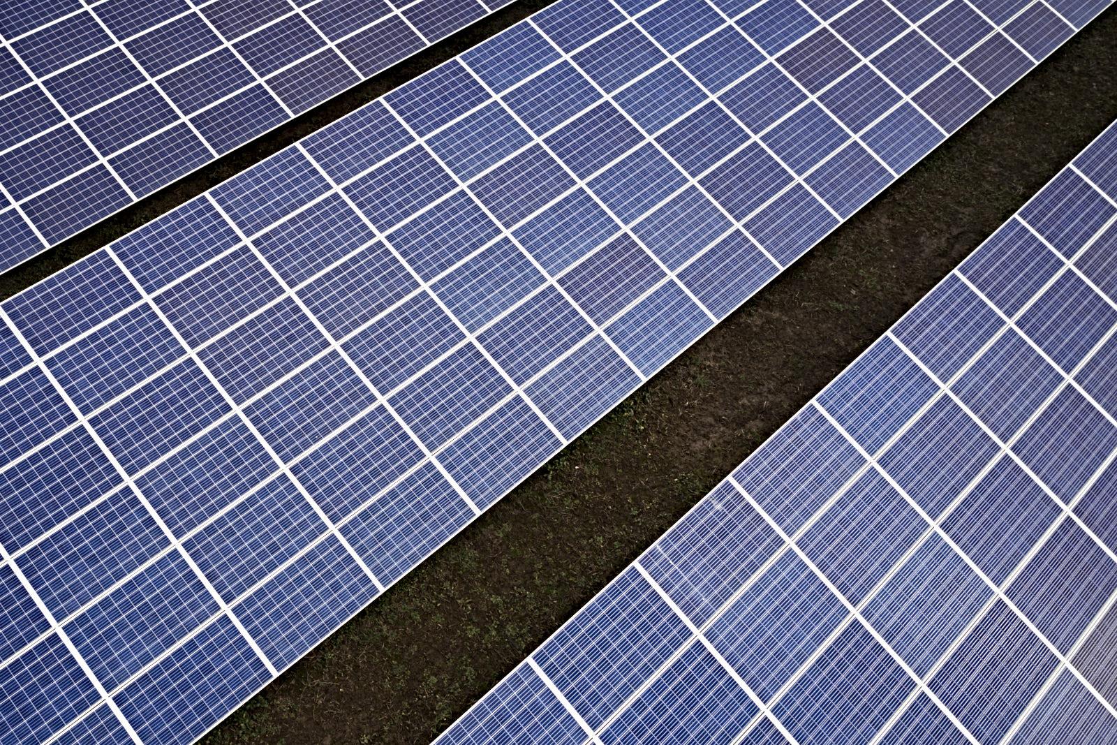 Solarzellen einer Photovoltaikanlage