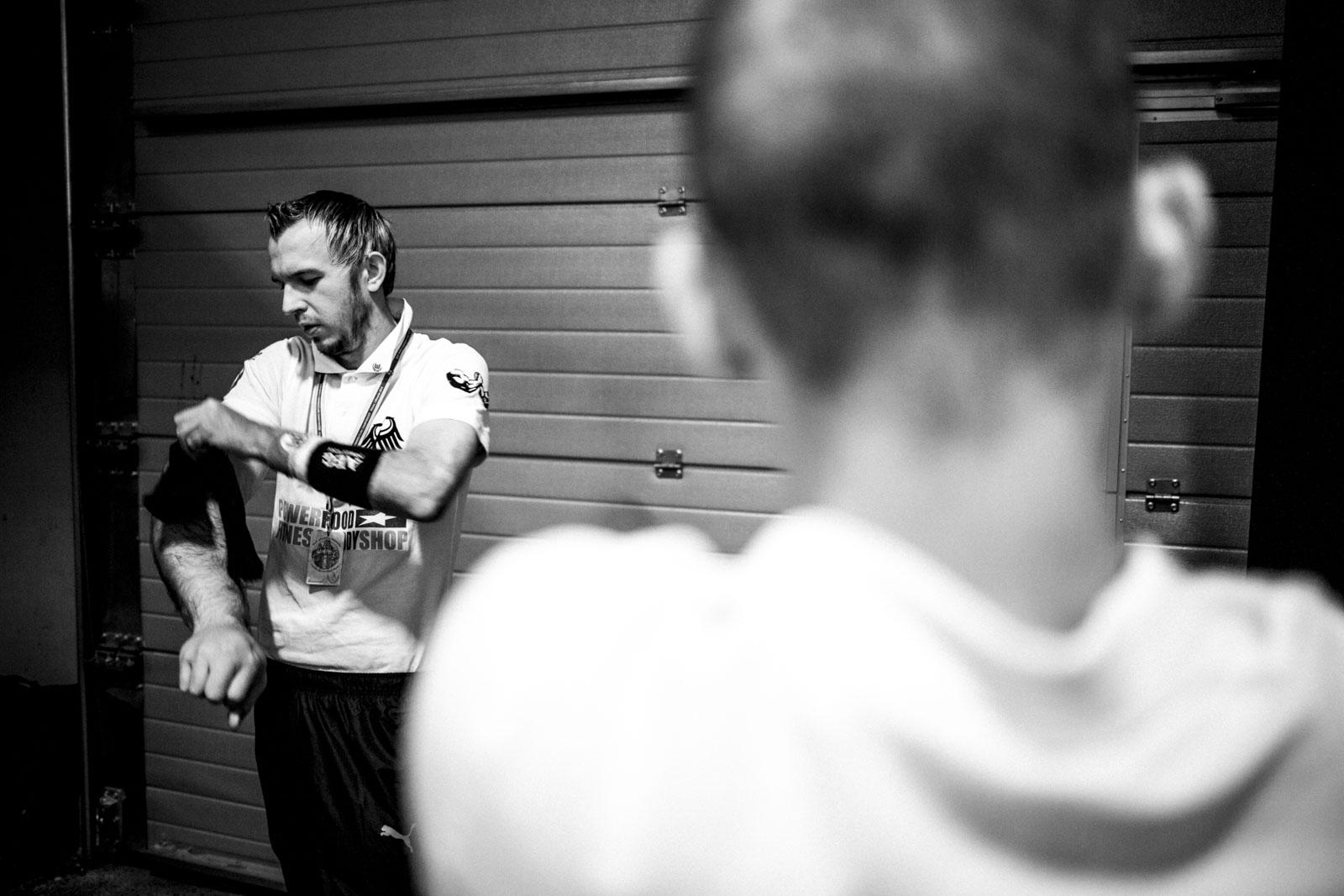 Matthias Schlitte während der Wettkampfvorbereitung