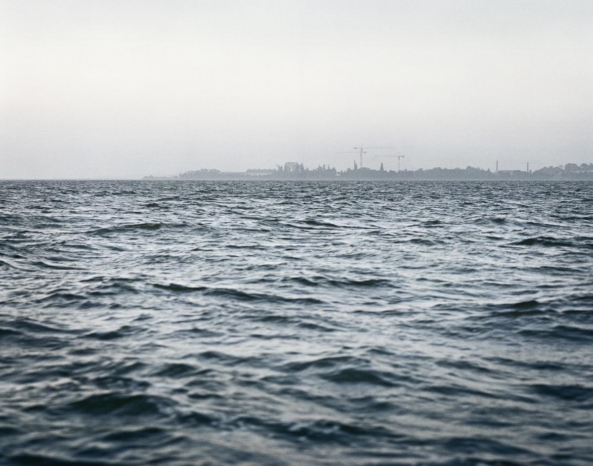 Insel Riems in der frühen Morgendämmerung