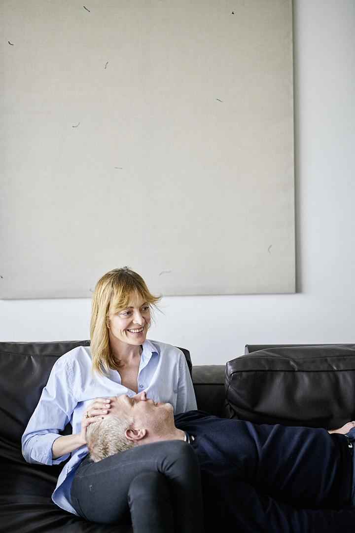 Daniel Hug, Direktor der Art Cologne, mit seiner Frau Natalia Hug