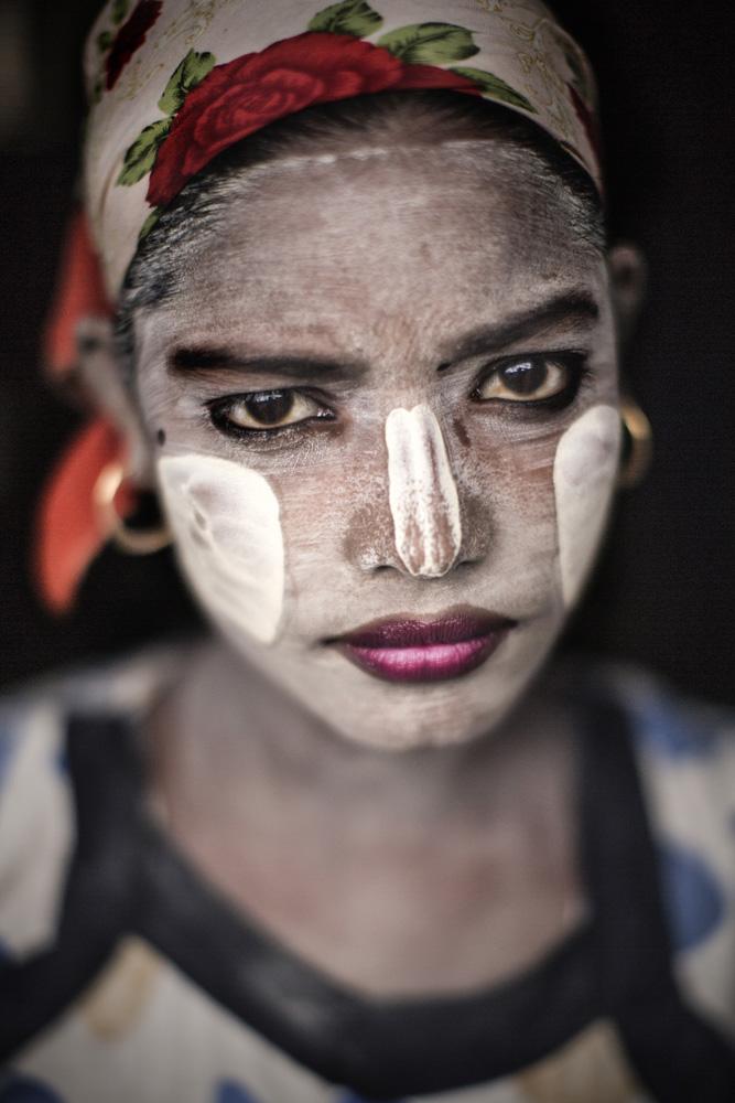 Moslim Rohingya-woman