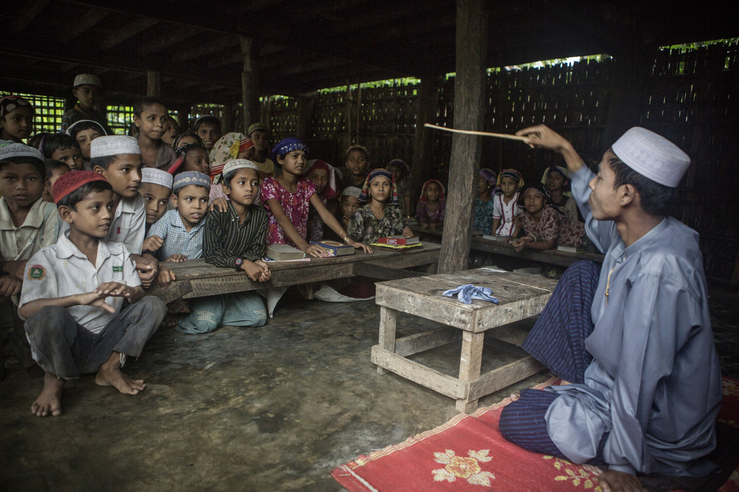 School in a refugee-camp close to Sittwe