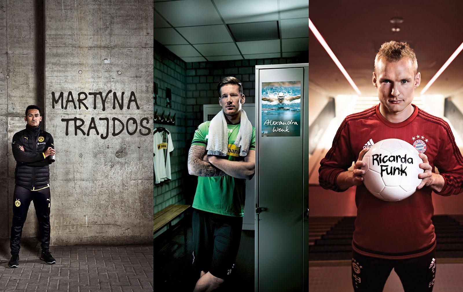 Portraits von Fussballprofis der 1. Bundesliga, Print- und Plaka