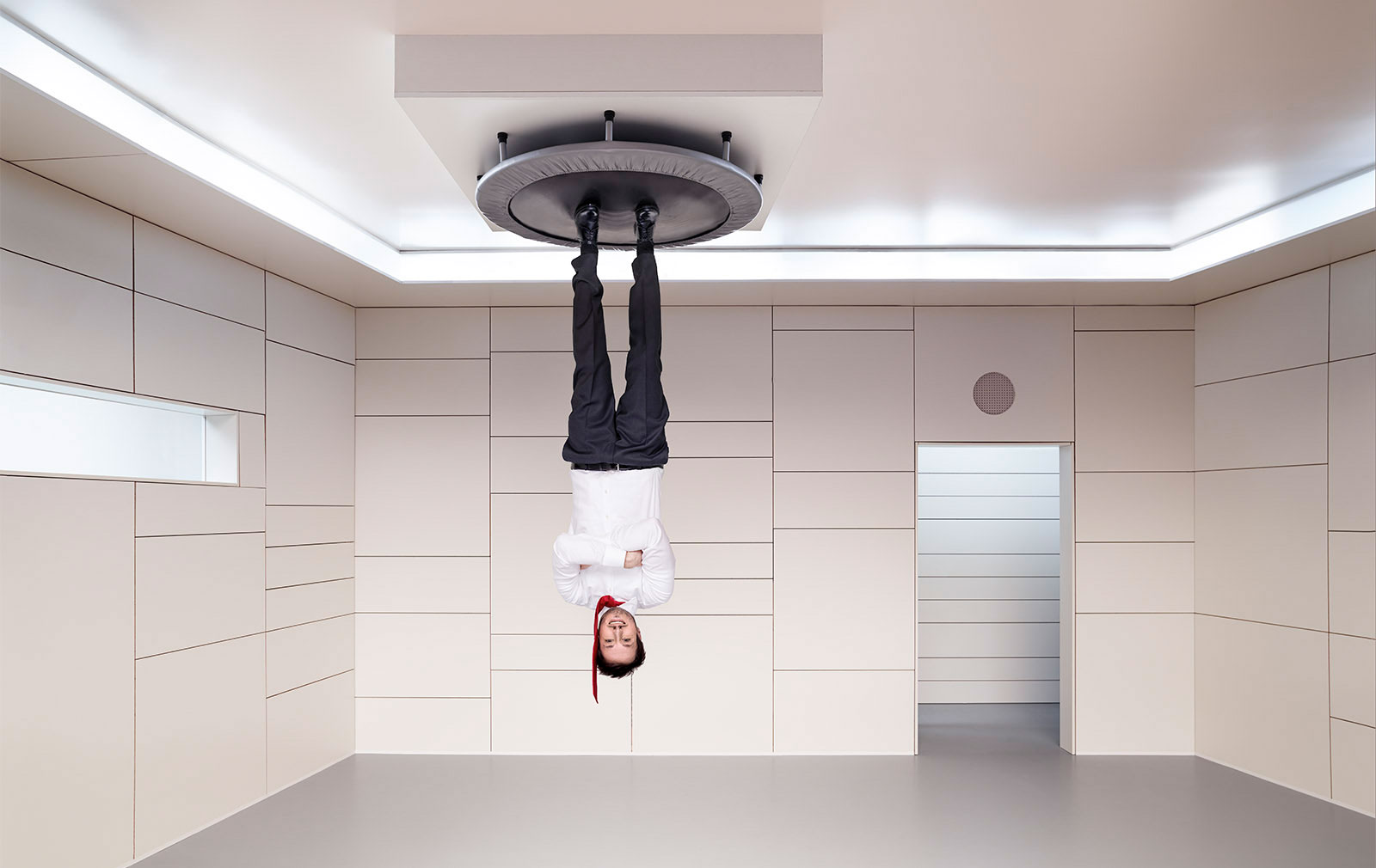 """Portrait des """"Hanging Man"""", Keyvisual für eine Werbekampagn"""