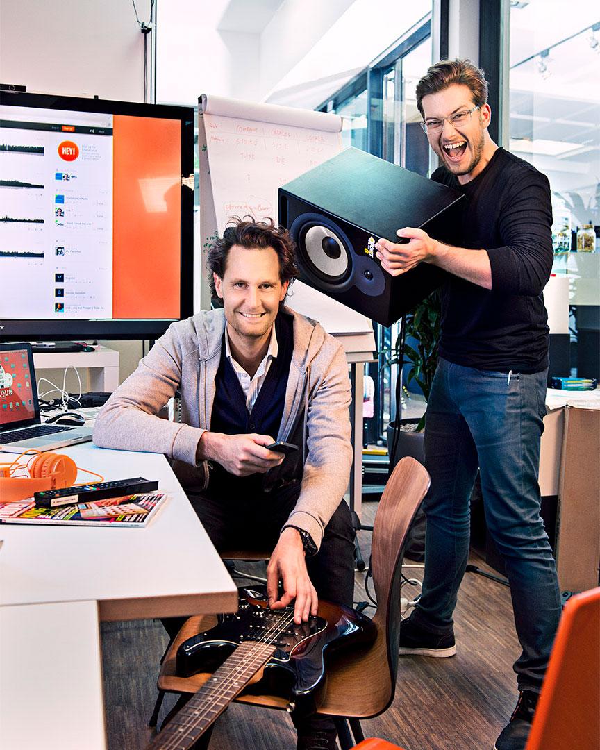 Alexander Ljung u. Eric Wahlforss, Gründer, CEO & CTO von Soundcloud