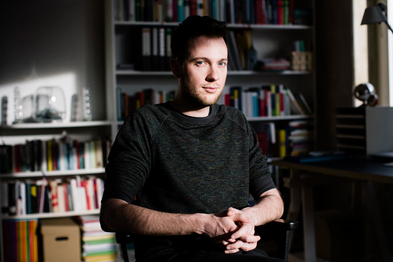 Valentin Hacken, Sprecher des Buendnis 'Halle gegen Rechts'