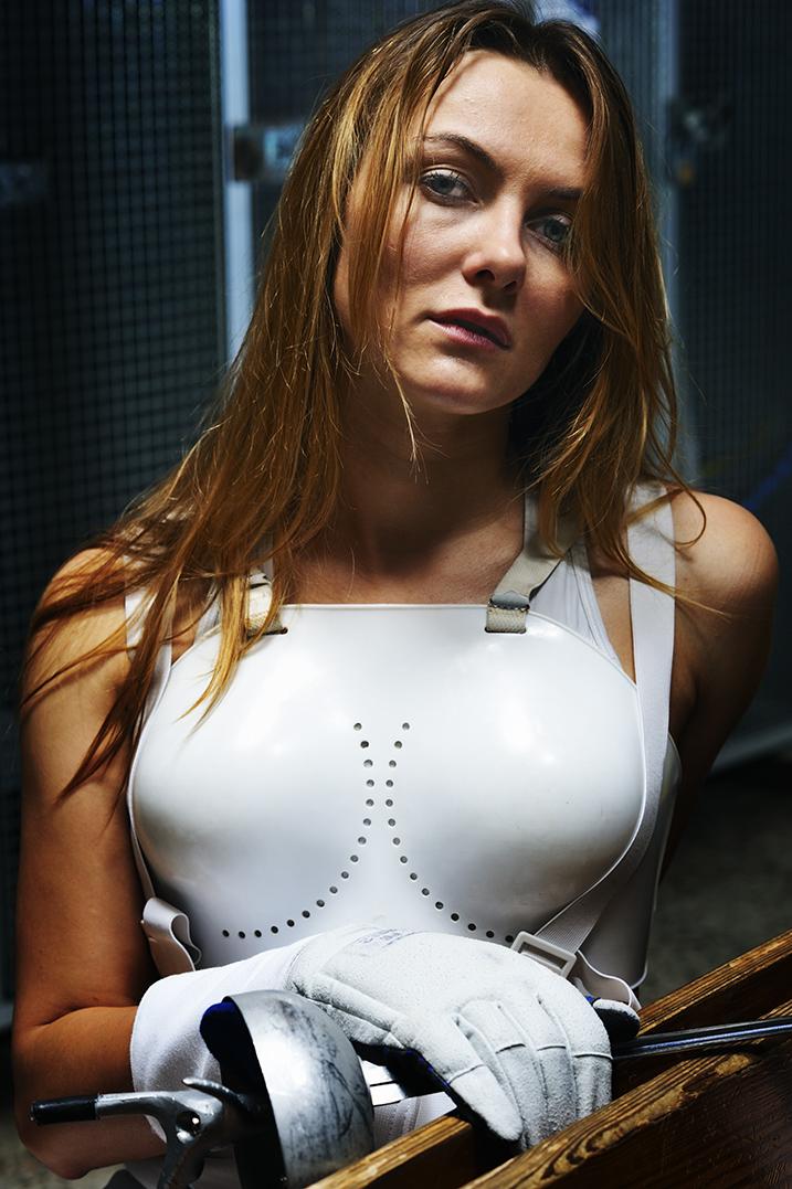Monika Sozanska, Fechterin