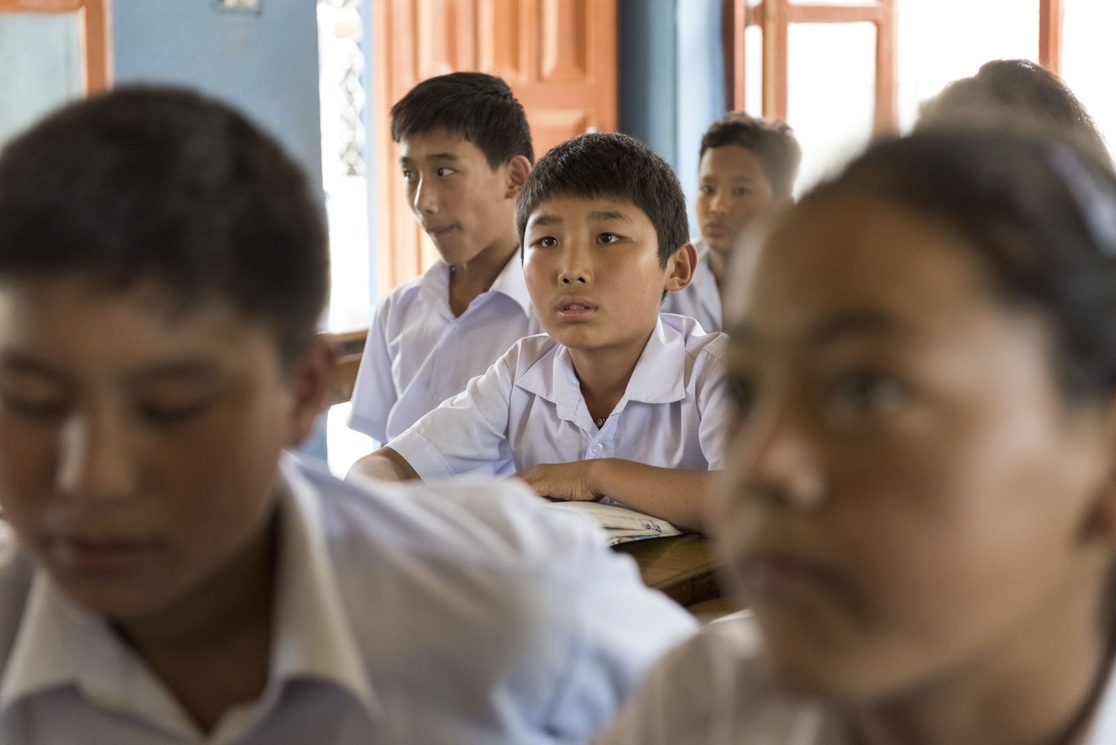 Tenzin Shakya, geflüchteter Schüler