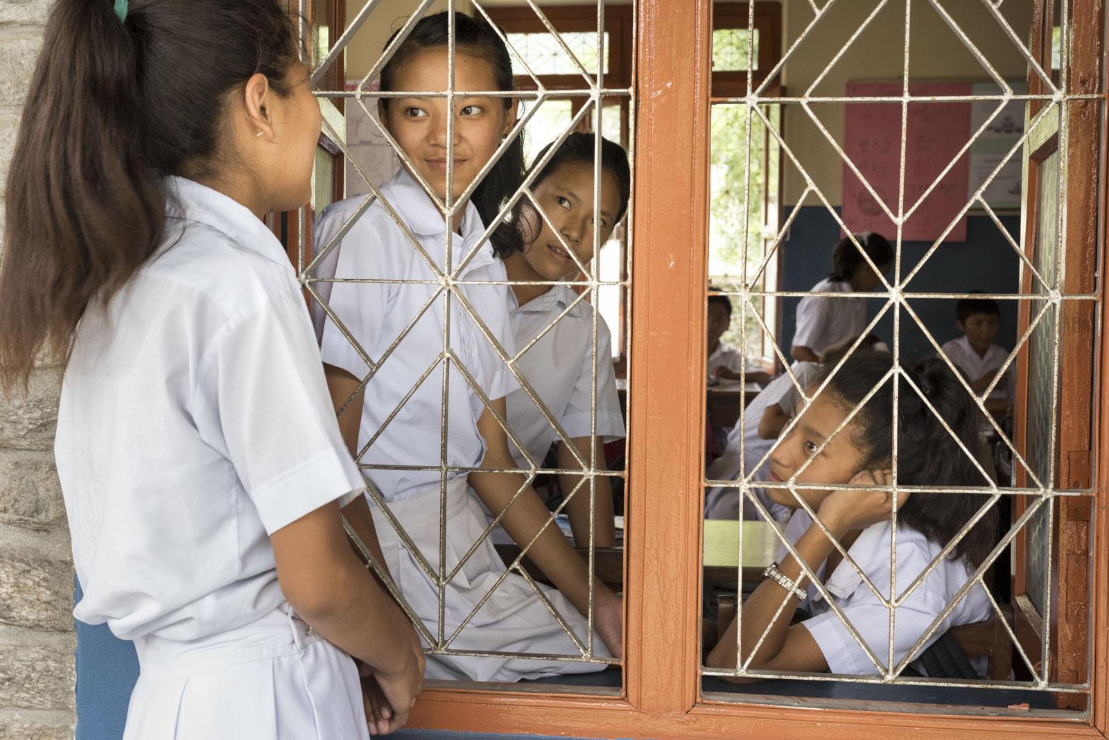 Nyima Bhuti, geflüchtete Schülerin