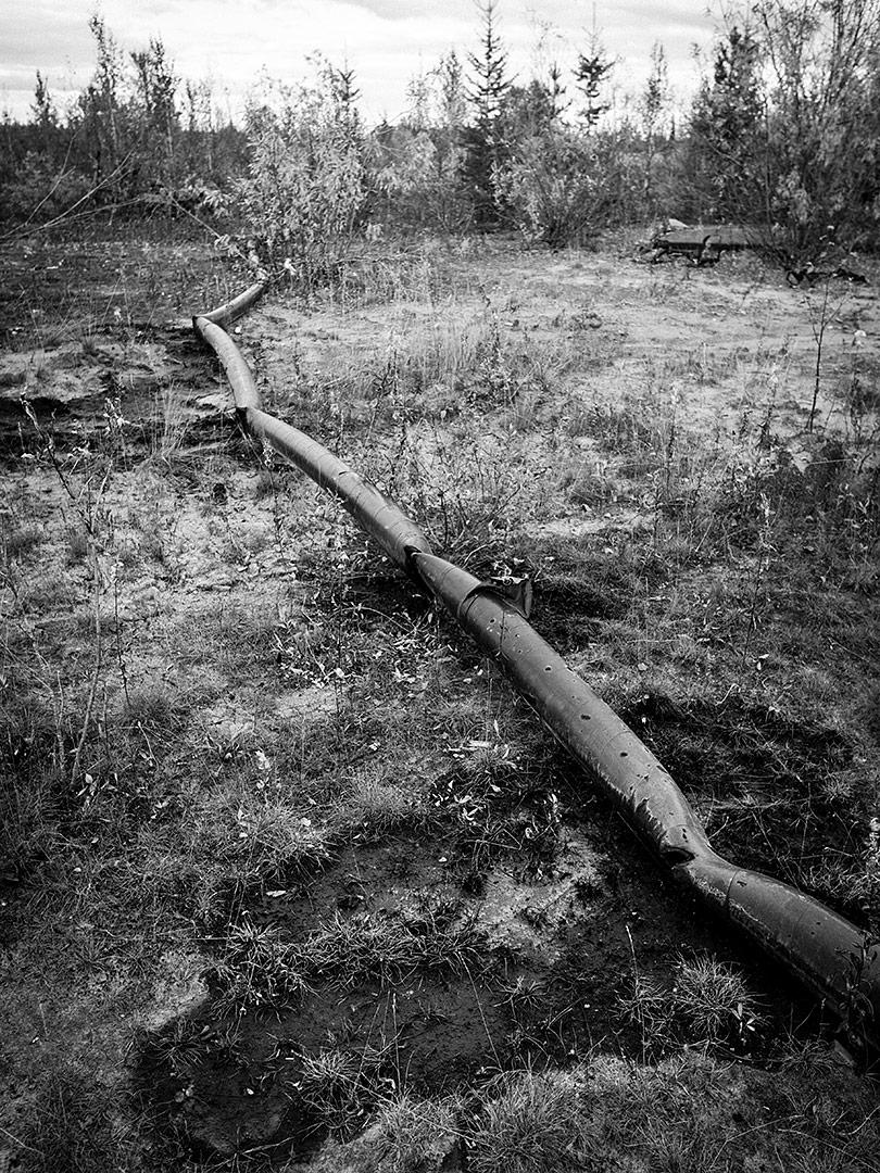 Brüchige Erdöl-Pipeline