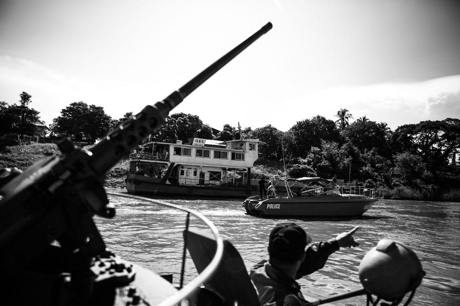 Patrouillie am Mekong