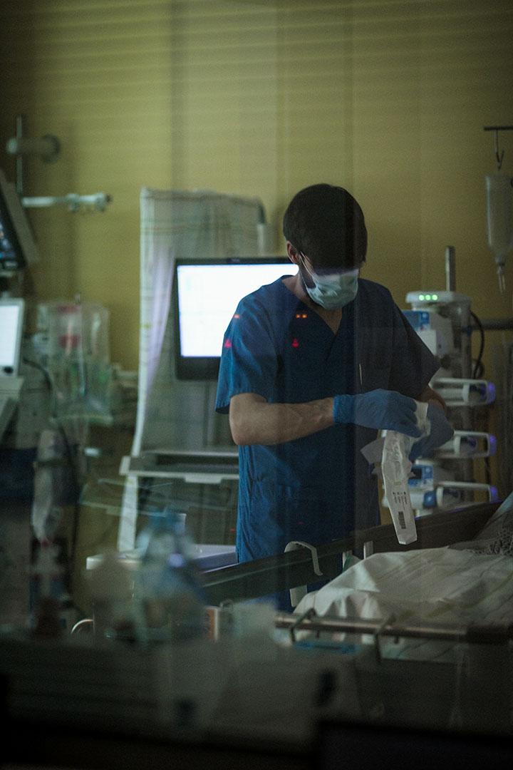 Arbeit im Patientenzimmer