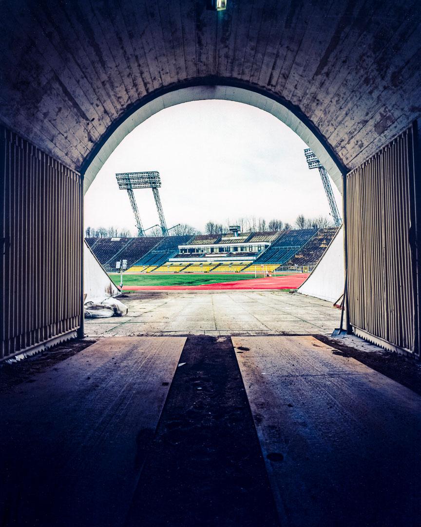 Tunnelausgang des alten Zentralstadions