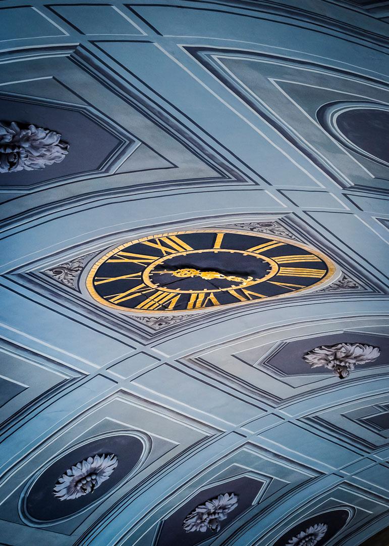 Deckenansicht der Stadtkirche