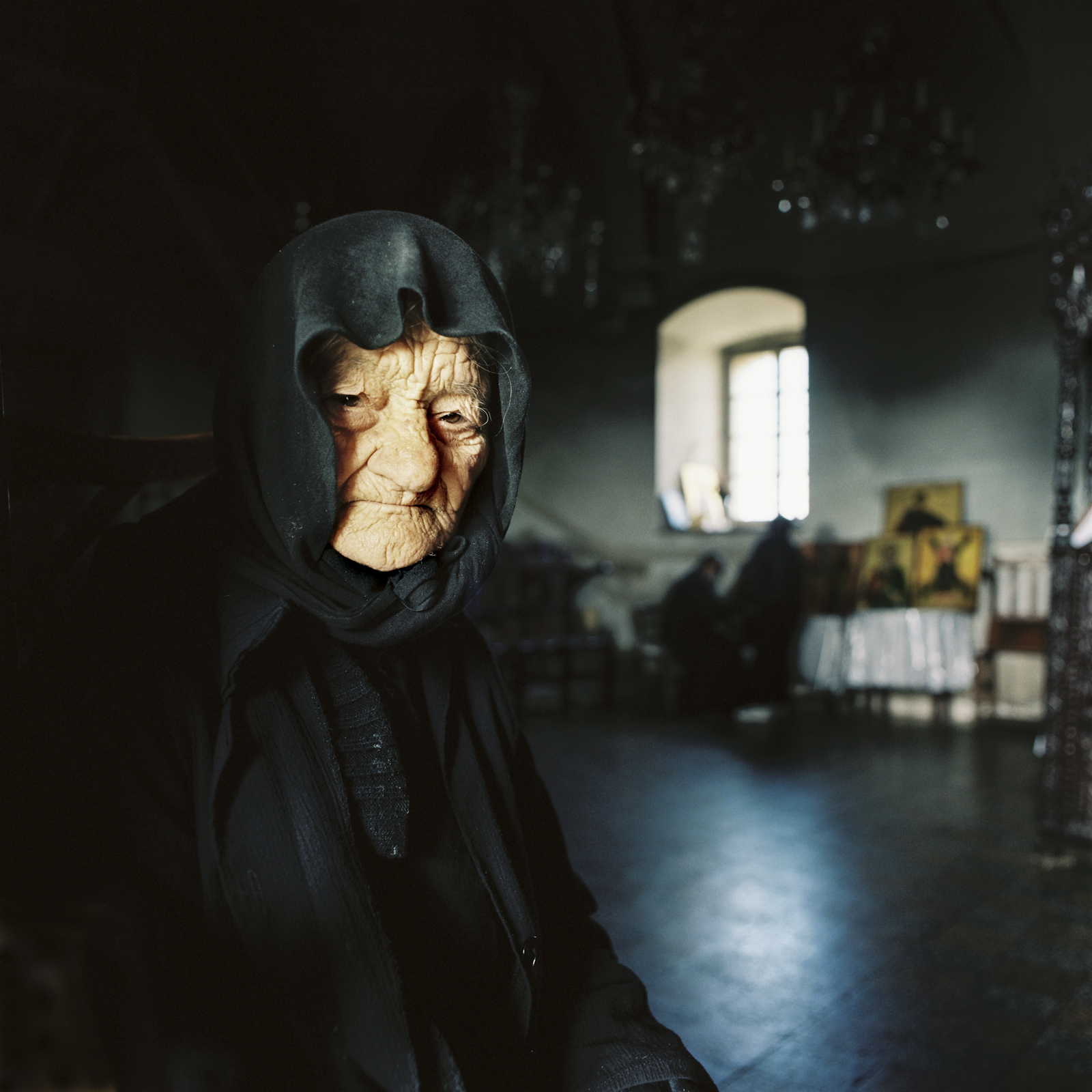 Die Nonne Respina (96 J.) im Andreas Kloster, Halbinsel Karpaz, Nordzypern.