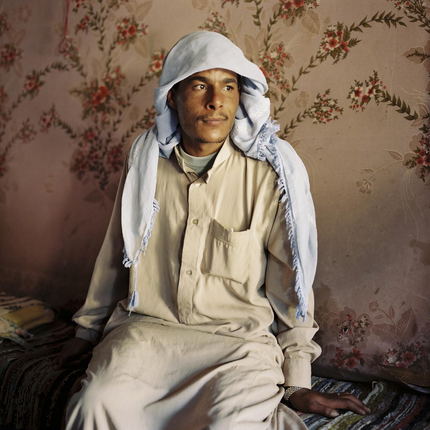 Der Beduine Himed in einer Hütte am Mosesberg, Sinai