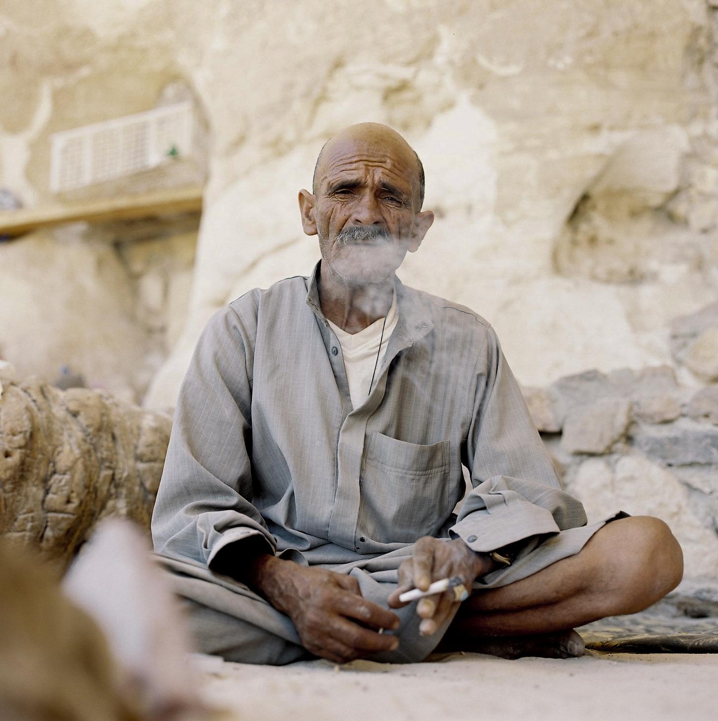 Höhlenbeduine in der weissen Wüste, Sinai