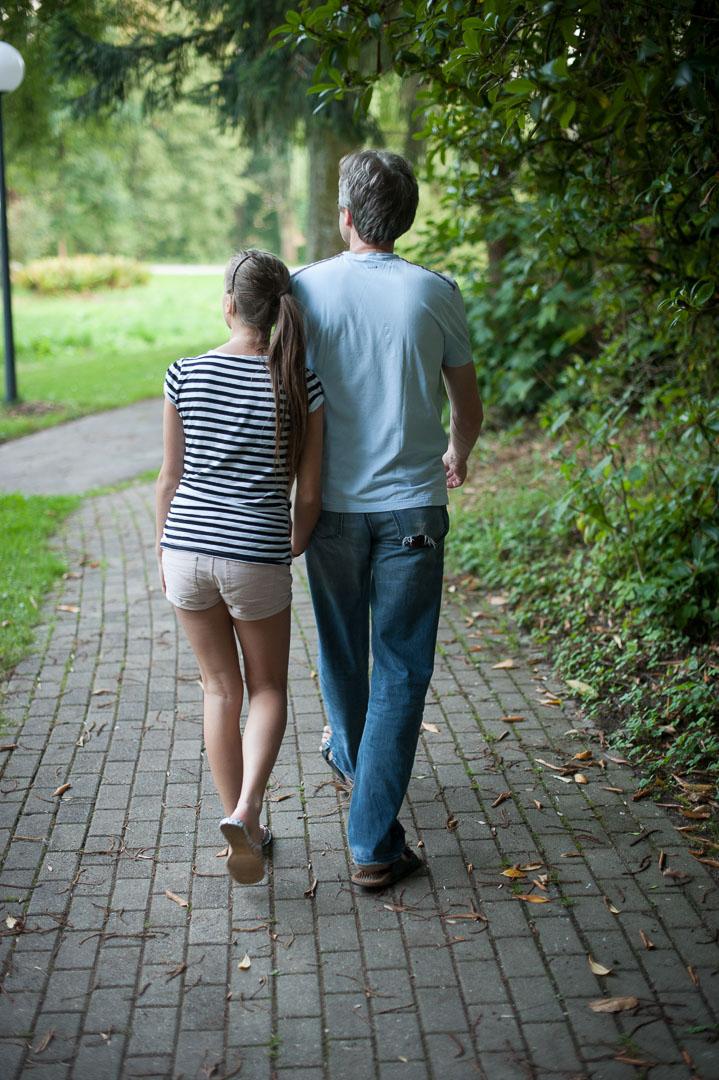 Zur Besuch in der Klink, Vater und Sophie, 2013