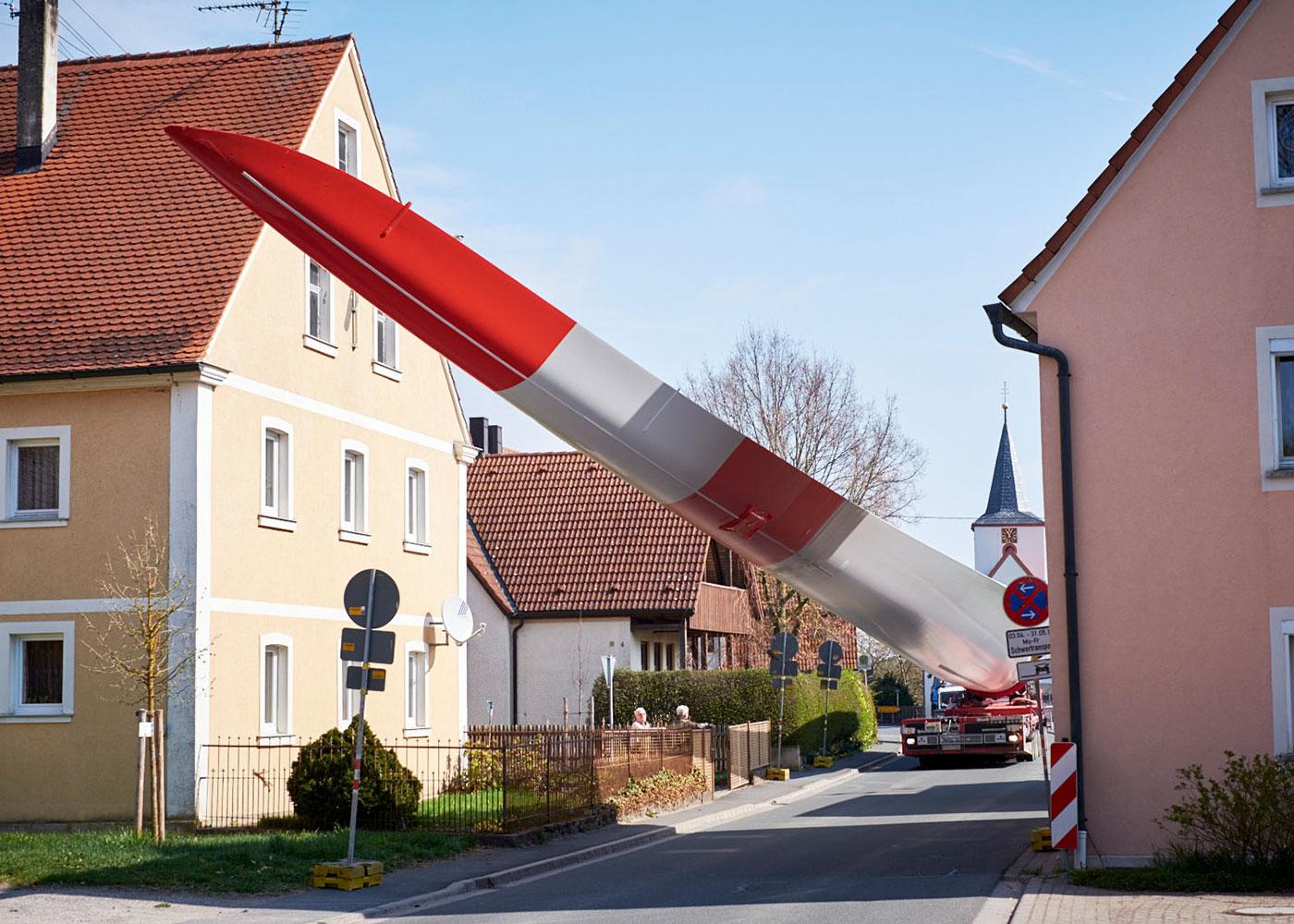 Transport von Rotorblättern © Roland Geisheimer