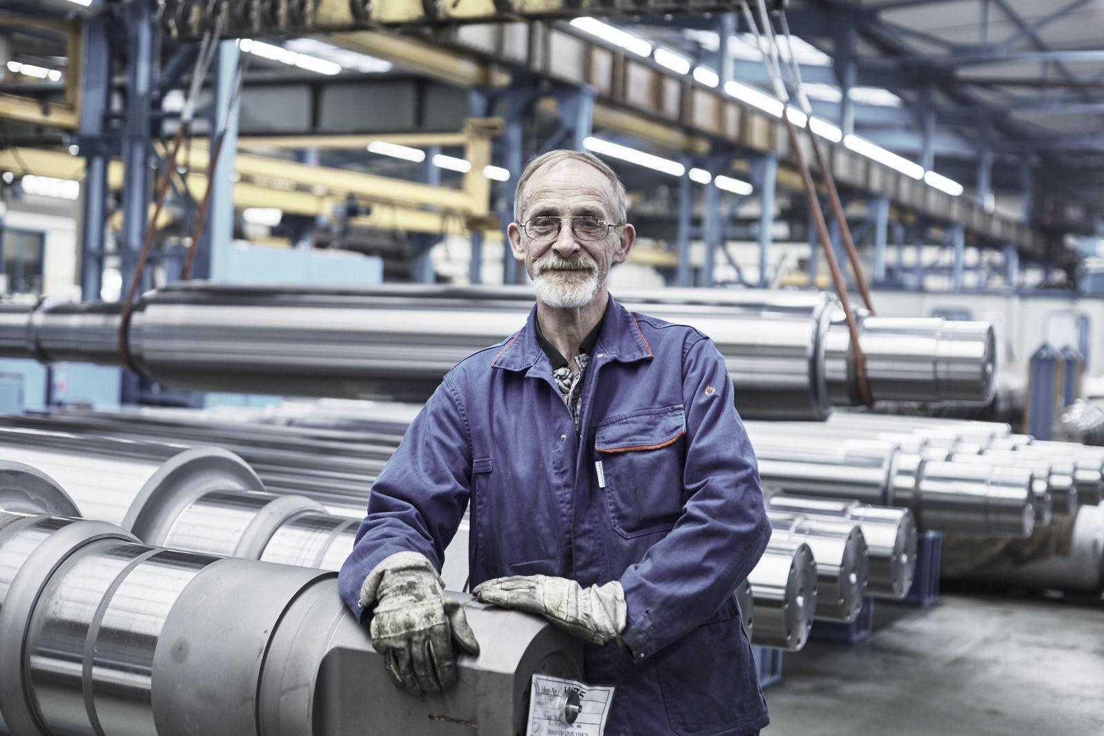 Arbeiter der Firma Steinhoff