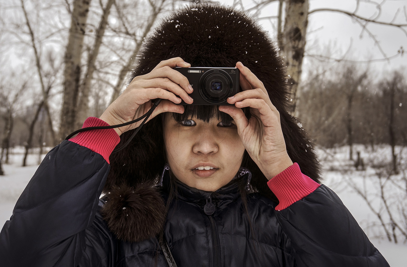 Nurshat, blindes Mädchen, Workshop in Karaganda (Kasachstan), 2017.