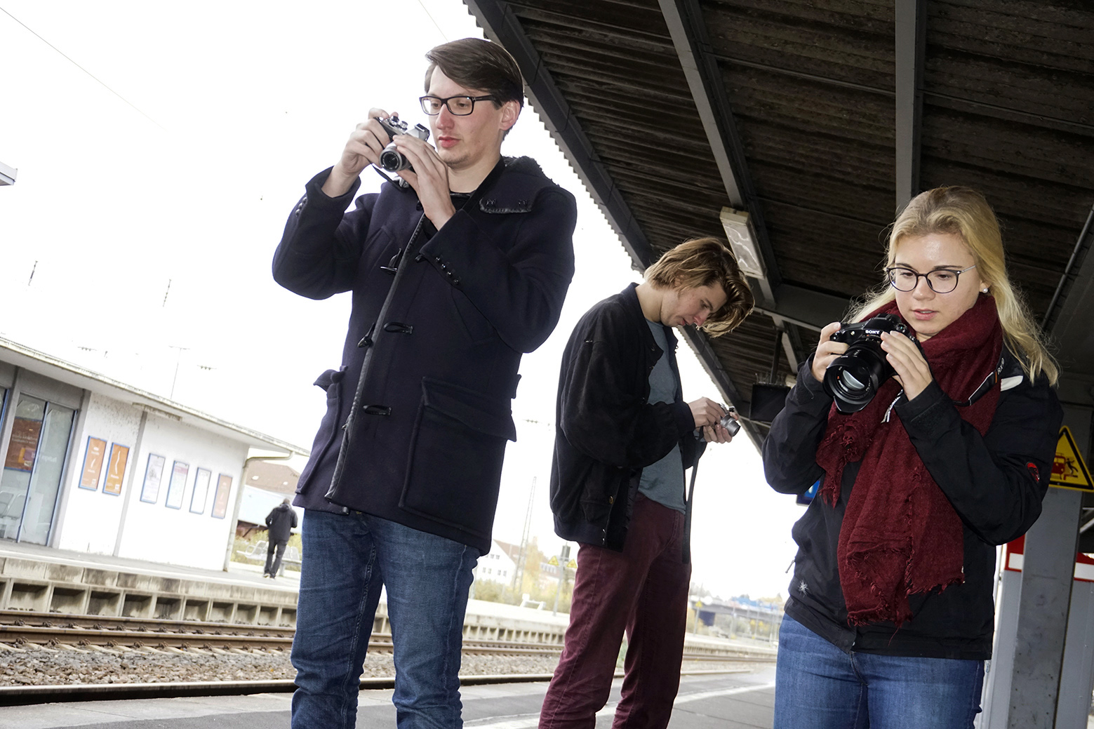 Studenten der Zeitenspiegel Journalistenschule in Reutlingen, 2018.