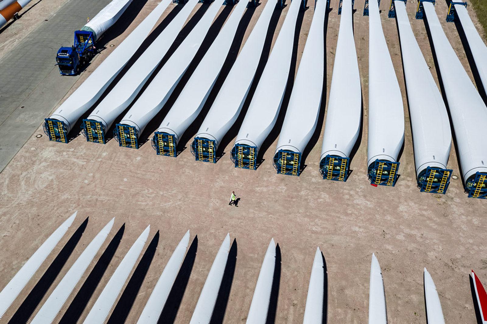 Herstellung Windkraftanlage, Deutschland © Kollektiv25