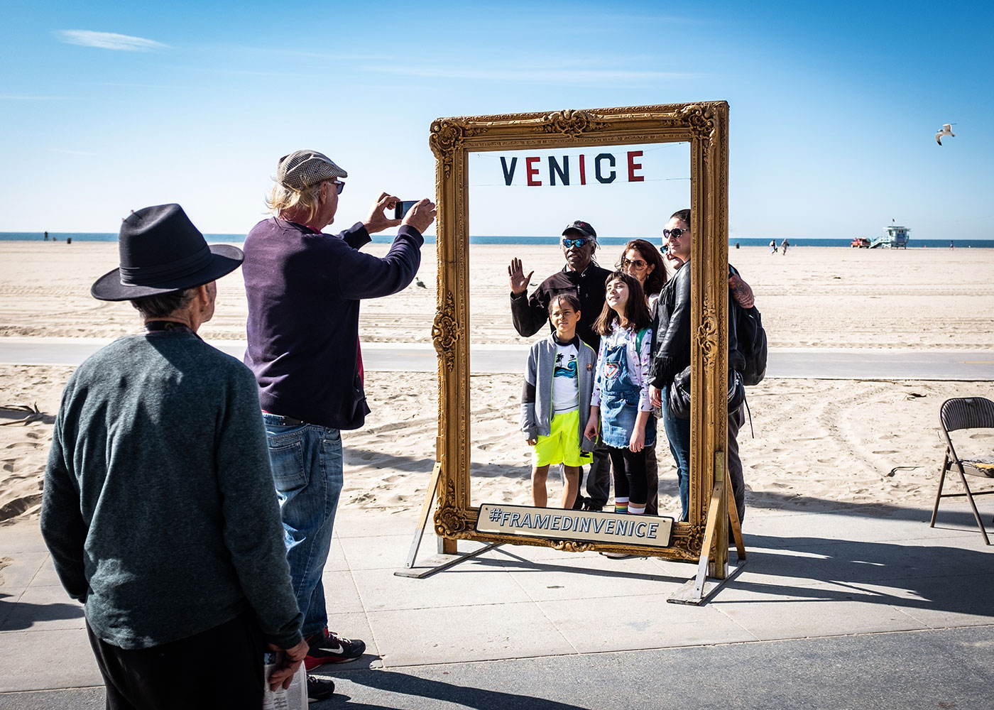 Familienfoto, Venice Beach, California